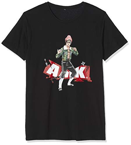 MERCHCODE Herren AMK Lee T-Shirt, Black, S