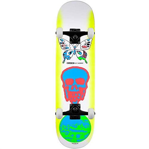 Quasi Skateboards Crockett Mode - Skateboard completo, multistrato, 21,6 cm