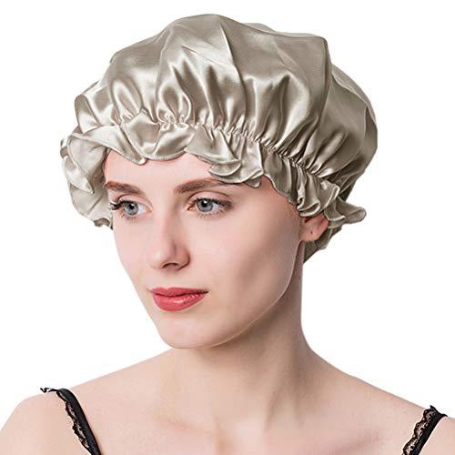 ナイトキャップ シルク シルクキャップ シルク100% 保湿 ゴム型 サイズ調整可能 ロングヘア ショートヘア 対応 ヘアキャップ就寝用 産後用 トープ