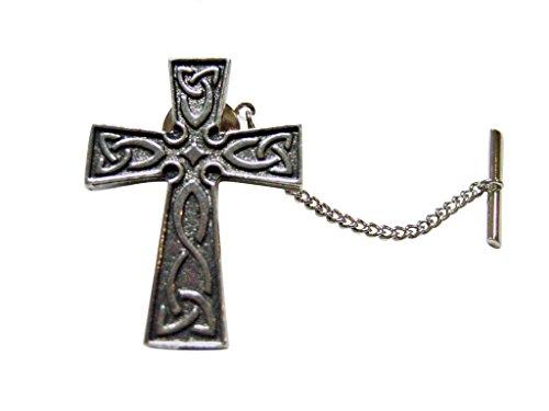 Celtic Design Large Cross Tie Tack