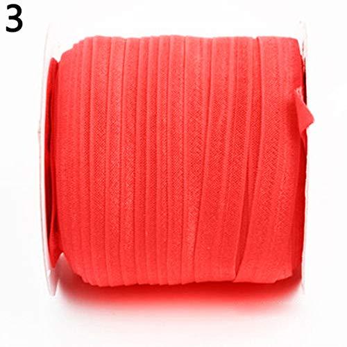 dljztrade Naaiband Elastische Touw Effen Kleur DIY Stretch Naaien Applique Craft Accessoire Bands Rood