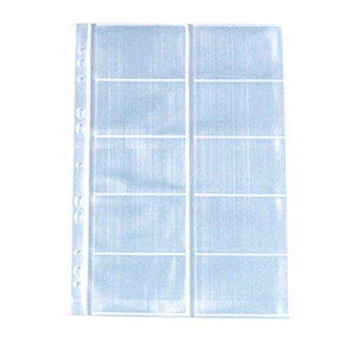 Herlitz 5894209 Visitenkartenhülle A4 mit 10 Fächern, glasklar, 50 Stück
