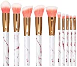 ASDFG Marble Pattern Make Up Brush Synthetic Foundation Eyeshadow Contour Face Make up Brushes Set for Girls,Marble Pink