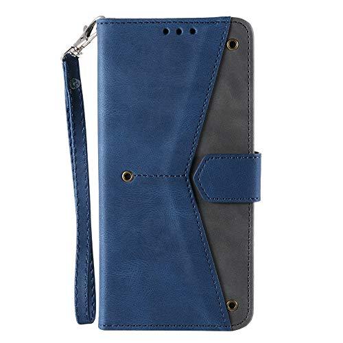 TOPOFU Leder Folio Hülle für Xiaomi Poco F3, Premium Flip Wallet Tasche mit Kartensteckplätzen, [Standfunktion] TPU+PU Lederhülle Handyhülle Schutzhülle, Blau