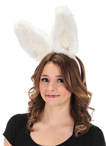 elope Bendy Bunny Plush Adjustable Ears Headband White