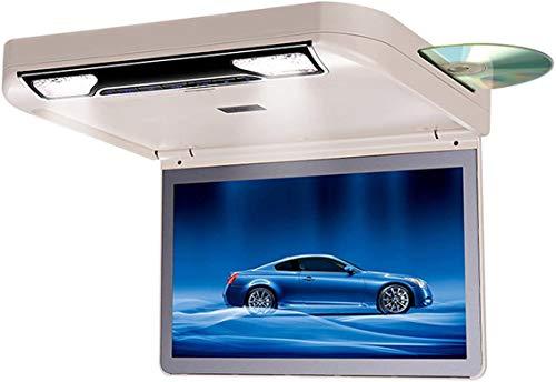 15,6 Pulgadas Overhead Coche Reproductor de DVD con 1080P HDMI SD USB IR FM Altavoz Juego Giratorio Plegable de Techo para Pantalla Plana Monitor