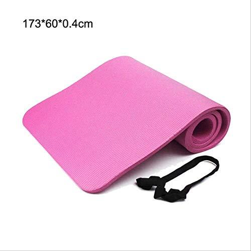 mengzhong Yogamatte, 6 Dicken, schmal, rutschfest, Gymnastikmatte, Pilates, Heimübungen, Übungsmatte, 173 x 60 x 0,4 cm, Schwarz, Marke Sportmatte und Yoga EVA, rose