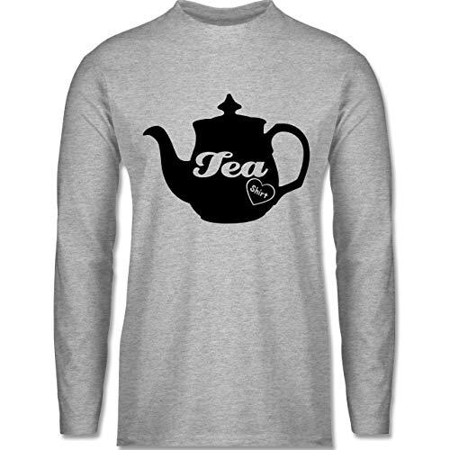 Statement - Tea-Shirt - XL - Grau meliert - Wortspiel - BCTU005 - Herren Langarmshirt