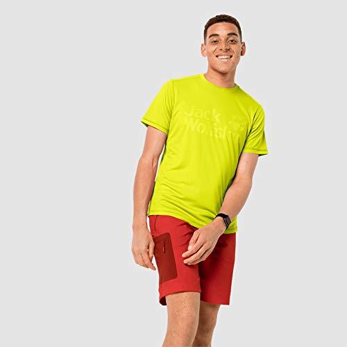 Jack Wolfskin Sierra T-Shirt Homme, Flashing Green, FR : M (Taille Fabricant : M)