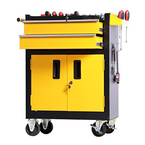 Tool Cabinets Workshop Tool Auto Repair Tool Trolley Tool Cart With Drawer Tattoo Workbench Tin Cabinet Tool Chest (Color : Yellow, Size : 62x33x87cm)