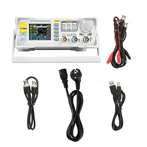 Generador de Señal A 60 Mhz, Fy6900-60m Medidor de Control de Frecuencia del Generador de Señal Digital Ch2 Multifuncional 250 Msa/s (eu Plug 220 V)