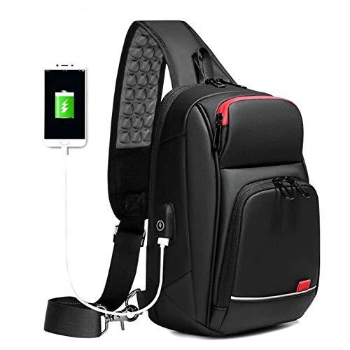 Phantom Smart Shoulder Bag, Men's Chest Bag, Messenger Bag, With USB Waterproof Lightweight Anti-Theft Sports Casual Crossbody Bag