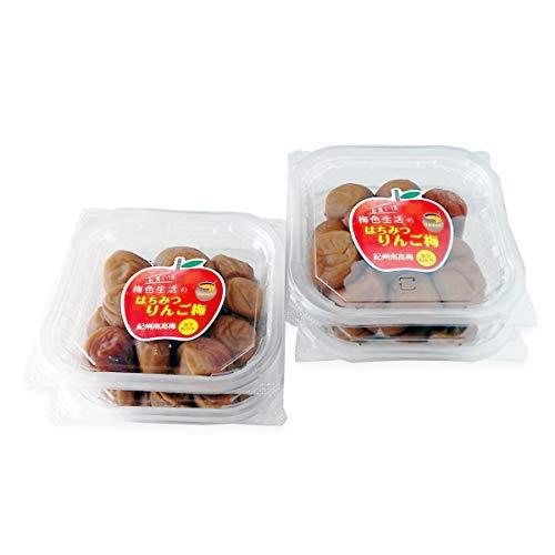 梅色生活 はちみつりんご梅 塩分6% 300g×4 梅干し はちみつ 梅干 訳あり 和歌山