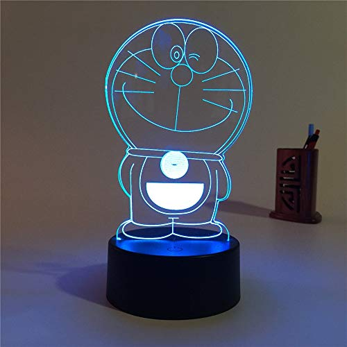 3D-Kindernachtlicht, 3D-Stereo-Vision-Lampe 7 Farbwechsel Schlafzimmer Nachttischlampe Nachtlicht Kreative Schreibtischlampe Kindergeschenk Deko Maison Geburtstag Halloween Kinderschlaflicht 3D