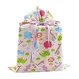 Jungle Animals Reusable Fabric Gift Bag for Baby...