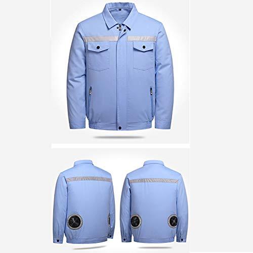 SYXW Vêtements D'éventail Vêtements Froids D'été Chargement, Refroidissement, Protection Thermique des Vêtements De Travail Tous Hommes Et Femmes,XXL