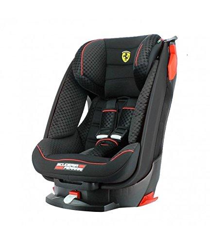 Asiento para coche reclinable para Ferrari Grupo 1(9 a 18kg.)-4estrellas en los tests TCS.- Protección contra impactos laterales. - Asiento reclinable en 4posiciones.