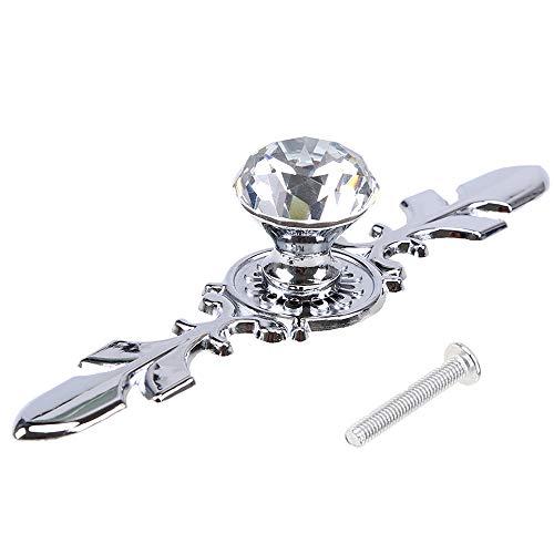 Schubladenknauf in Diamantform, Zinklegierung, inklusive Schrauben, 10er Pack, Style#2, 25MM/120MM