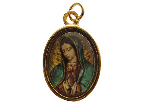 Virgen De Guadalupe Face Medal Gold-tone Our Lady of Guadalupe Handmade Catholic Medal Religious Gift
