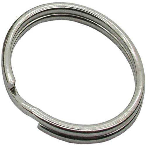 Bulk Hardware BH01821 16 mm Schlüsselring Spaltring, Vernickelt/Weiß, 20 Stück