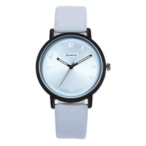 Weimay - Reloj de Pulsera analógico de Cuarzo para Mujer, diseño de Hoja de Arce, Piel y Acero Inoxidable