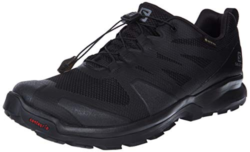 Salomon Herren XA ROGG GTX Trekking- & Wanderhalbschuhe, Black/Black/Black, 42 EU