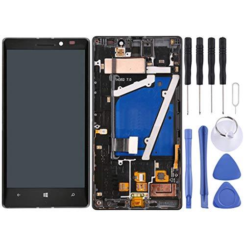Bjhengxing Bildschirmersatz for Nokia Lumia 930 (Schwarz), Reparatur defekter Bildschirm Screen LCD-Touchscreen-Display Professional Digitizer Total Assembly, mit Reparatur-Tool-Kit