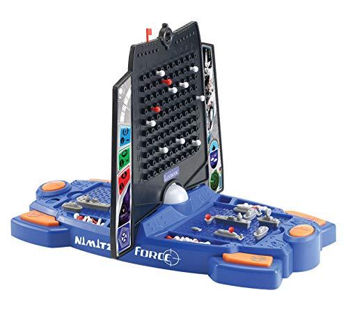 Lexibook GT2500 Nimitz Force Seeschlacht, Geräusch-und Lichteffekte, 3 Joker für die Spieler, Batteriebetrieben, Blau/Schwarz