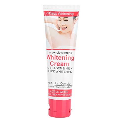 50ml Skin Whitening Cream, Crema Blanqueadora de Piel Corporal, Deodorant Whitening Cream para pieles oscuras axilas cuello, reparación de axilas crema blanqueadora para mujeres cuidado de la piel