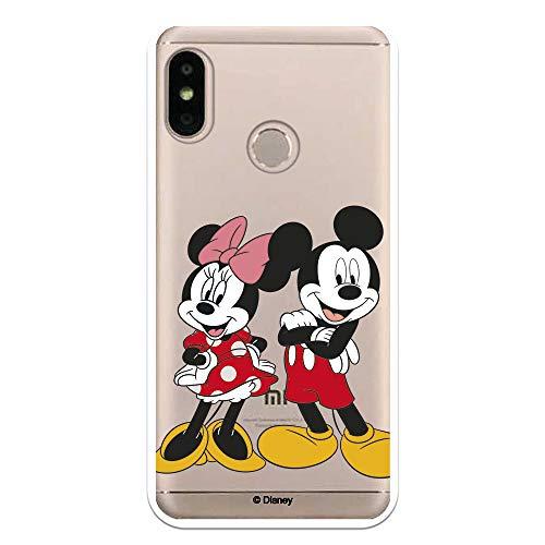 Funda para Xiaomi Mi A2 Lite - Redmi 6 Pro Oficial de Clásicos Disney Mickey y Minnie Posando para Proteger tu móvil. Carcasa para Xiaomi de Silicona Flexible con Licencia Oficial de Disney.