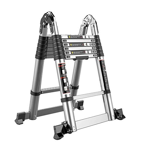 Xinmier Construction Step Ladder Telescoping Extendable Ladder Multi-Purpose A-Frame Ladder Extension Ladder for Ourdoor Home Loft Load 330lbs EN131 (Size : 3.1m+3.1m/10.1ft+10.1ft)
