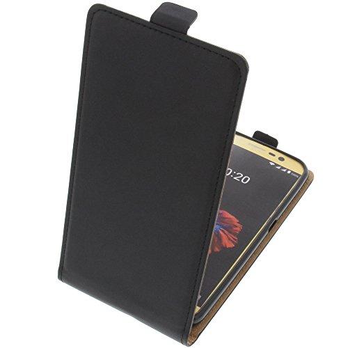 foto-kontor Tasche für ZTE Blade A910 Smartphone Flipstyle Schutz Hülle schwarz