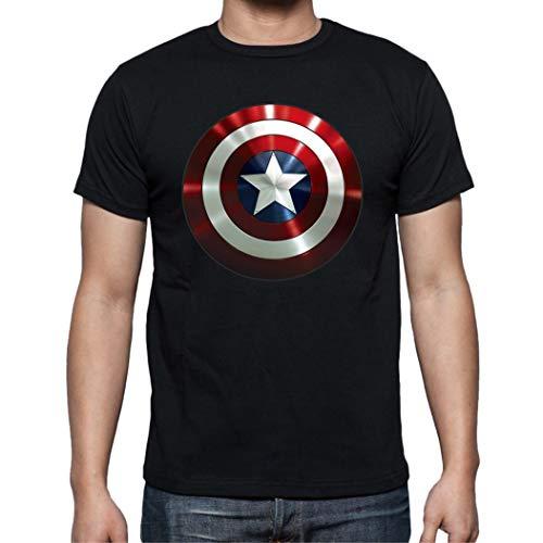 The Fan Tee Camiseta de Hombre Capitan America Comic Iron Man Hulk Advenger Vengadores 005 L