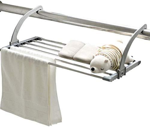 NOSSON Hänge Wäschetrockner, Heizkörper Airer Edelstahl-Tuch-Kleidung Folding Kleidung Wäsche Airer Wäschetrockner für im Freien oder Balkon In Grau 69x32cm