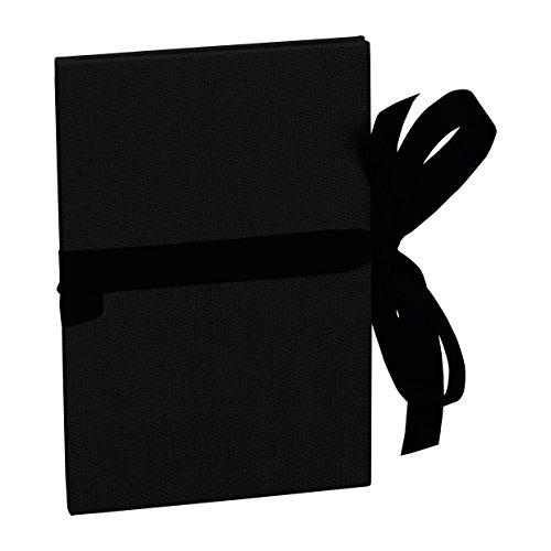 Semikolon (353236) Leporello Grande A5 black (schwarz) - Für 14 Bildern im Format 13 x 18 cm - Ziehharmonika-Fotobuch - Format: 15 × 21 cm