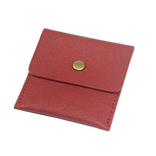 携帯灰皿 高級 PU革 ポータブル ポケット アウトドア おしゃれ メンズ男性3色 (赤い)