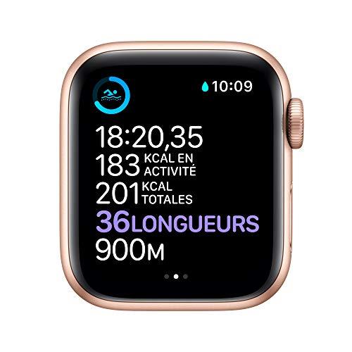 AppleWatch Series6 (GPS, 40 mm) Boîtier en aluminium or, B