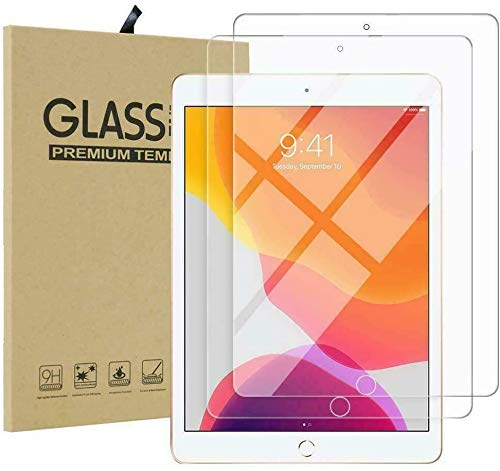[2 Pack] Screen Protector iPad Air 3 10.5 /iPad Pro 10.5 inch [A1701, A1709, A1852] Tempered Glass Film 9H HD, [Premium] Shatterproof Protectors [ Easy Installation]