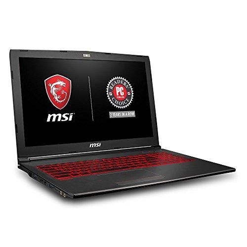 MSI GV62 8RD-200 15.6in Performance Gaming Laptop i5-8300H GTX 1050Ti 4G 8GB RAM 16GB Intel Optane Memory + 1TB HDD Win 10, Black (Renewed)