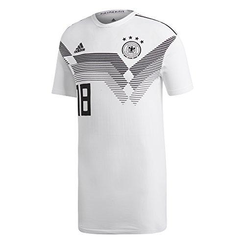 adidas DFB H JSY K 18 - Camiseta 1ª equipación Selección Alemania 2018, Hombre, Blanco(Blanco)
