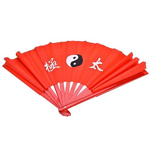 Focket Fan de bambú de Tai Chi, Abanico Plegable de Lujo Ligero...