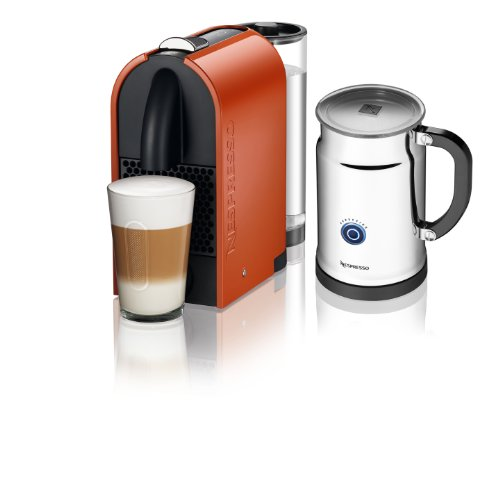 Nespresso A D50-US-OR-NE Espresso Maker with Aeroccino Milk Frother, Pure Orange: Kitchen & Dining