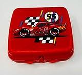 Tupperware To Go Twin A126 - Fiambrera para el colegio o la guardería, diseño de coches, color rojo