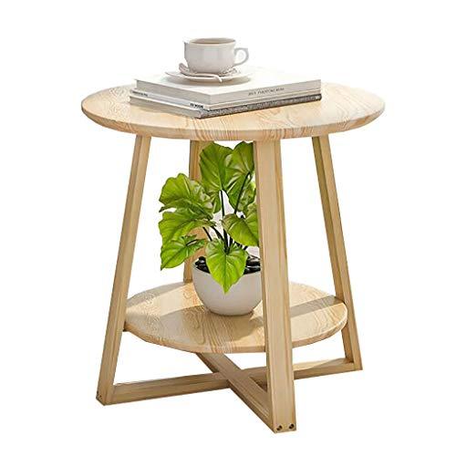 Table Basse Simple Nordique En Bois Massif Ronde Petite Table D'appoint Chambre Mini Table De Chevet Coin Canapé Européen