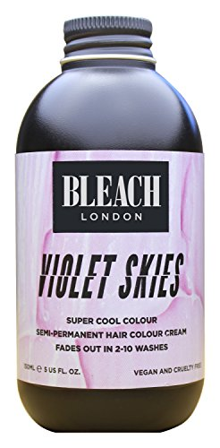 Bleach London Super Cool Semi-Permanent Hair Color Cream, 150 ml, Violet Sky