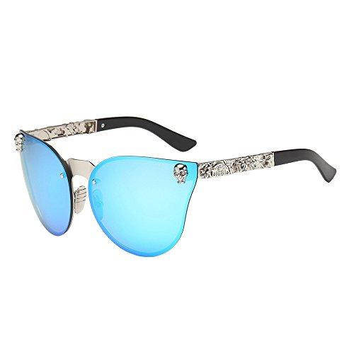 Storerine Mode Unisex Herren Rahmen Shades Acetat UV Brillen Sonnenbrillen Kleine Schädel Dekoration Party Brillen