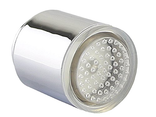 Katomi Wasser leuchten LED Wasserhahn Licht Temperaturfühler Küche Badezimmer Tap Dusche Sprühkopf RGB Farbwechsel - 4