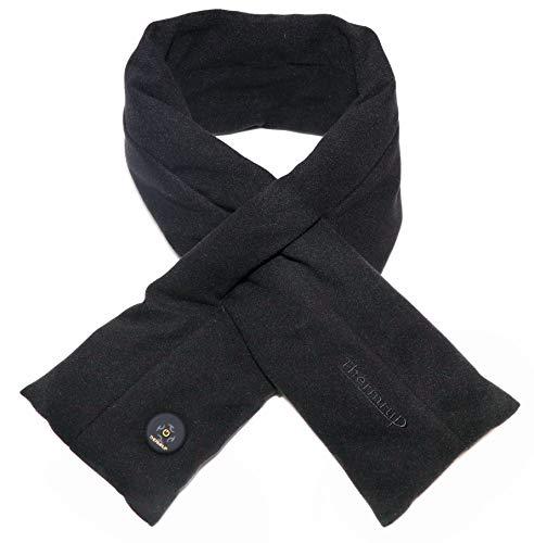 Thermrup Ferinfrarot Beheizbarer Schal mit 3-stufige Temperatureinstellung, Akkubetrieb (Schwarz)
