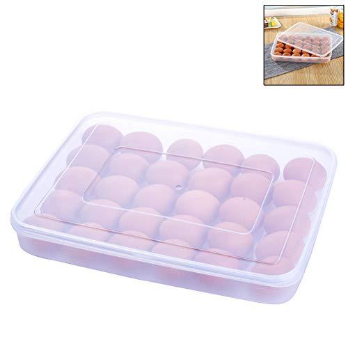 Macabolo 30 Grid Grote capaciteit gedeeld ei opslag Container Box anti-slip eieren Dispenser houder dienblad met deksel voor koelkast