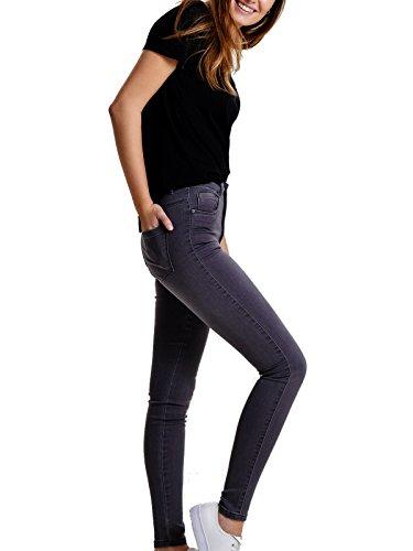 ONLY Damen Jeans onlRoyal Reg Skinny-Hose Stretch grau, Farbe:Grau, Weite/Länge:M/34